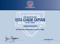 USTA Team Captain Certificate